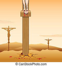 はりつけ, よい, キリスト, 金曜日, イエス・キリスト