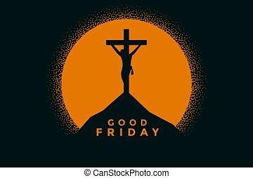 はりつけ, キリスト, 金曜日, 背景, よい, イエス・キリスト