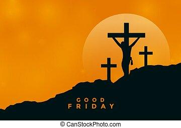 はりつけ, 金曜日, 現場, イエス・キリスト, 背景, よい