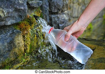 びん, 春, 手, 水 源, 中身, 保有物