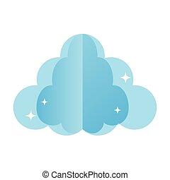 ふんわりしている, 自然, スタイル, 雲, すてきである