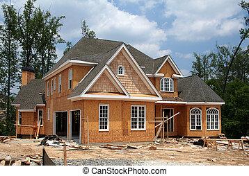 まだ, 新しい, 建設, 家, 下に