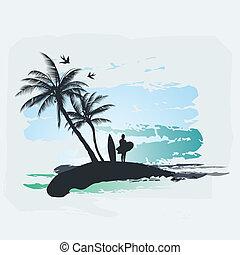 やし, サーフィンをしなさい, 木