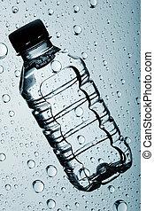 ゆとり, 背景, に対して, 水のビン, 浄化された, 抽象的