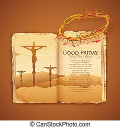よい, キリスト, 金曜日, 交差点, イエス・キリスト, 聖書