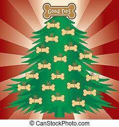 よい, クリスマスツリー, 犬