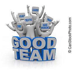 よい, 人々, -, チームワーク, qualities, チーム