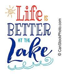 よりよい, 生活, 湖