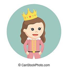 わずかしか, 円, 背景, 王女