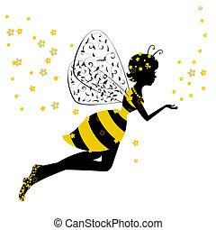 わずかしか, 妖精, 女の子, 蜂