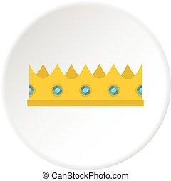 わずかしか, 王冠, 円, アイコン