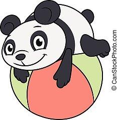 わずかしか, 2, パンダ, ボール, 遊び