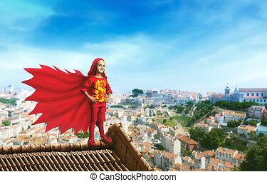 わずかしか, superhero, 女の子