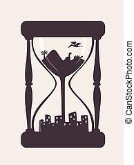 を過ぎて, ガラス, 未来, 時間, イラスト