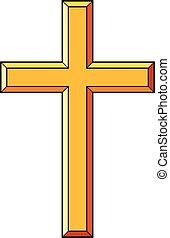 アイコン, キリスト教徒, ベクトル, イラスト, 交差点