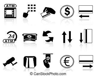 アイコン, クレジット, atmカード, 機械, セット