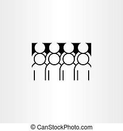 アイコン, ベクトル, グループ, clipart, 人々