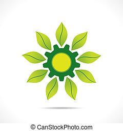 アイコン, 創造的, 産業, 緑