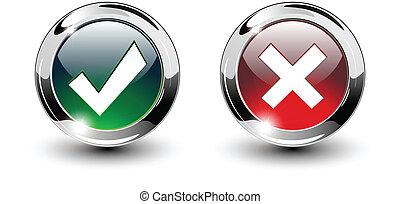 アイコン, 印, カチカチいいなさい, &, ボタン, 交差点