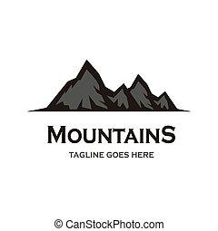 アイコン, 山, ベクトル