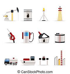 アイコン, 産業, ガソリン, オイル