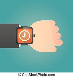 アイコン, 腕時計, 痛みなさい, 時計