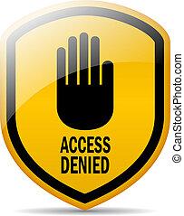 アクセスが否定される