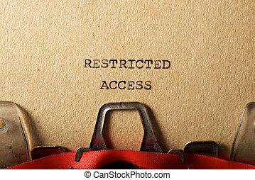 アクセス, テキスト, 限られた
