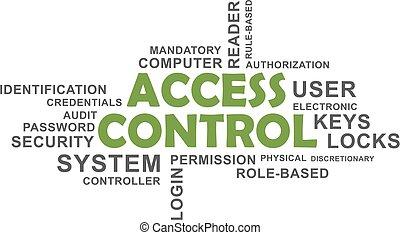 アクセス, 制御, -, 雲, 単語