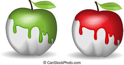 アップル, half-painted