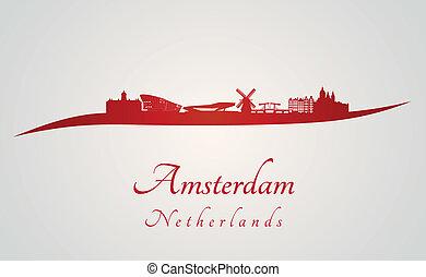 アムステルダム, スカイライン, 赤