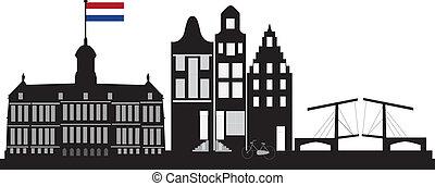 アムステルダム, 旗, オランダ語