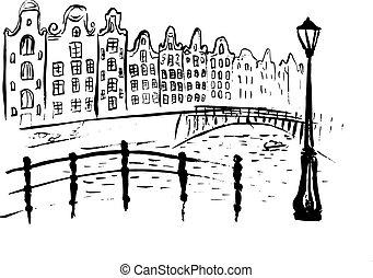 アムステルダム, 運河, 家