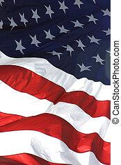 アメリカの旗, 縦, 光景
