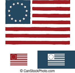 アメリカ人, デザイン, 旗, オリジナル