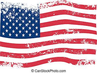 アメリカ人, ベクトル, 旗