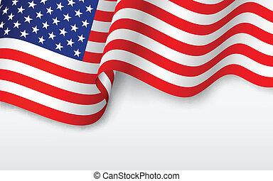 アメリカ人, 波状, 旗