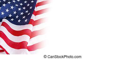アメリカ, 白い背景, 旗