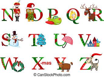 アルファベット, クリスマス