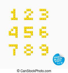 アルファベット, ピクセル, ブロック