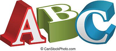 アルファベット, 壷, 手紙, abc, 教授