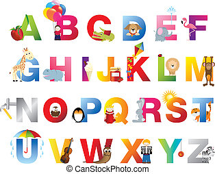 アルファベット, 完了しなさい, childrens