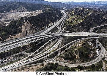 アンジェルという名前の人たち, 航空写真, 郡, los, newhall, パス, カリフォルニア