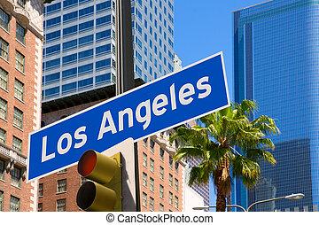 アンジェルという名前の人たち, la, 写真, 山, 印, ダウンタウンに, los, redlight