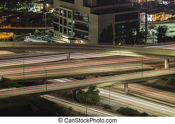 アンジェルという名前の人たち, los, 交通, 高速道路, 夜