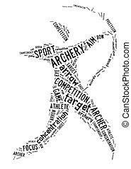 アーチェリー, 白い背景, pictogram