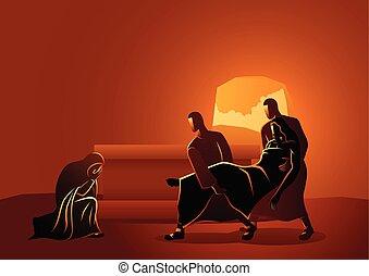 イエス・キリスト, 墓, 置かれた