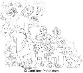 イエス・キリスト, 着色, 子供, ページ