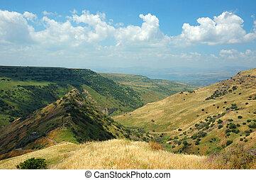 イスラエル, 国立公園, hights, 要塞, gamla, golan