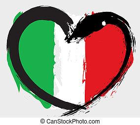 イタリアの旗, グランジ